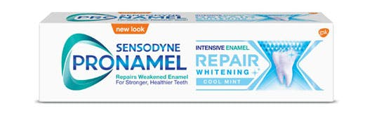 Box of Sensodyne Pronamel Intensive Enamel Repair toothpaste in Extra Fresh