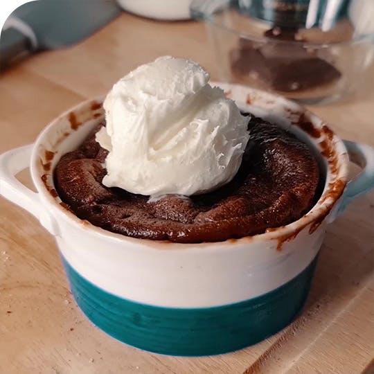 Molten Cake With Ice Cream Recipe
