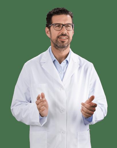 Male dentist in clinic explaining