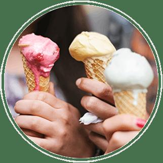 3 conos de helado - sensibilidad dental - gsk