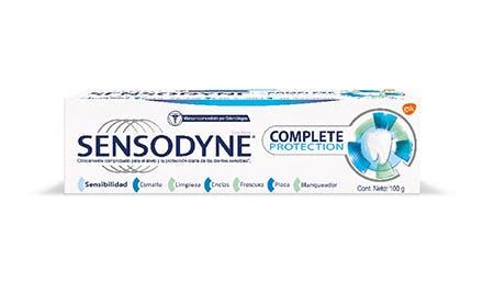 dentífrico de uso diario sensodyne complete protection