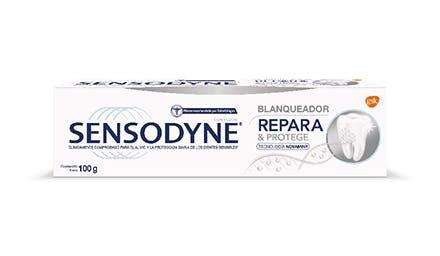 pasta dental blanqueadora para dientes sensibles sensodyne
