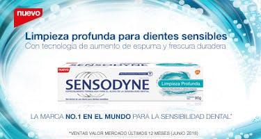 Limpieza profunda para dientes sensibles. La marca N1 del mundo para la sensibilidad dental - Sensodyne Limpieza profunda  90g