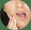 Symptômes de sensibilité