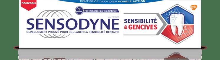 Soulager votre gencives douloureuses ou qui saignent ainsi que vos douleurs dentaires vec Sensodyne