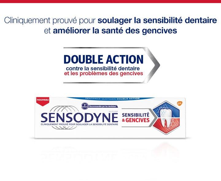 Le dentifrice Sensodyne soulage vos genvices