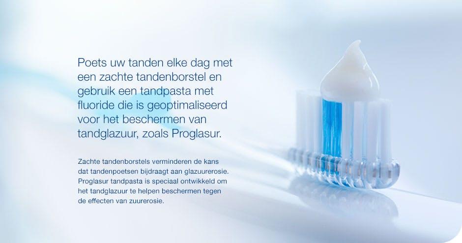Met Proglasur tandpasta help je glazuur op je tanden beschermen