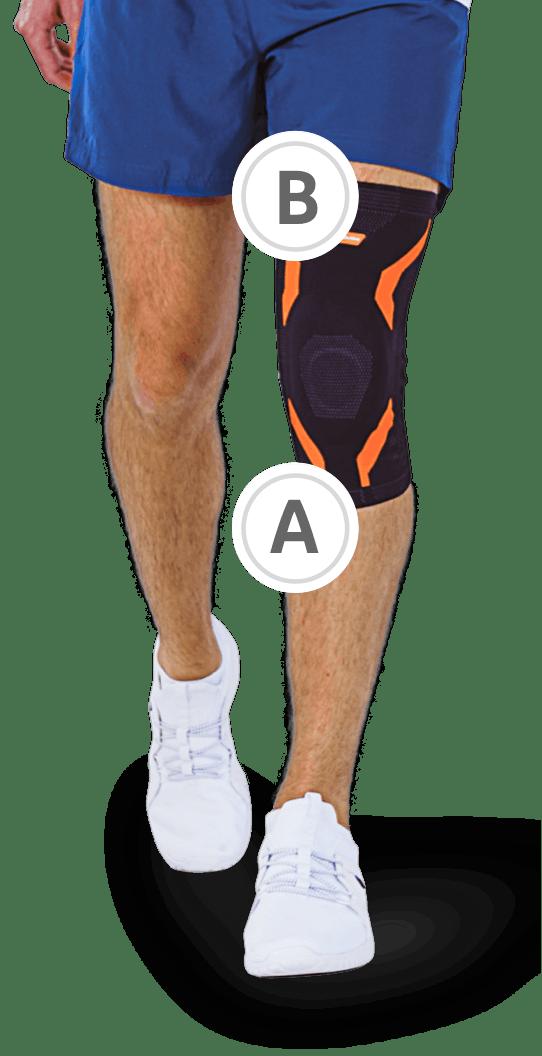 Messen VoltActive Kniebandagen richtige Passform