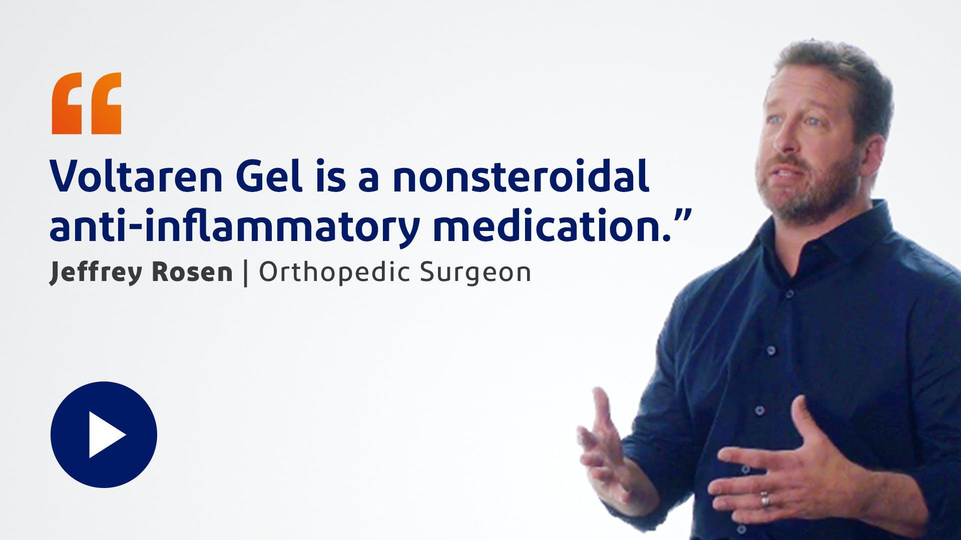 Dr. Rosen Prescribes Voltaren Gel Video