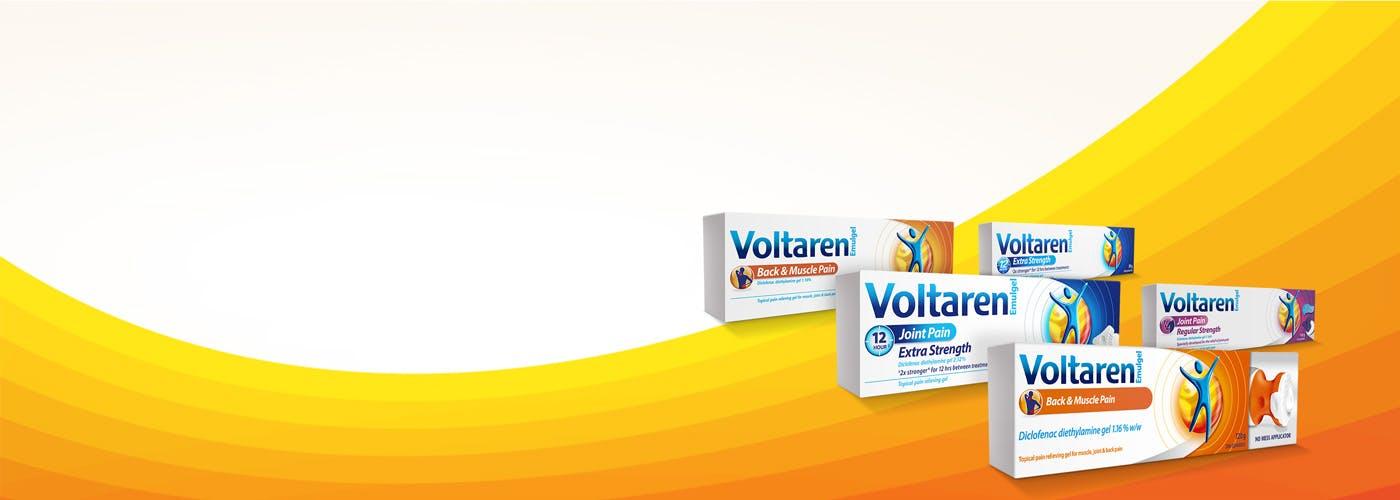 Three boxes of Voltaren Emulgel
