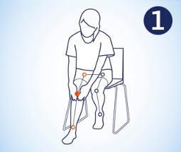 Hacer masaje en la rodilla