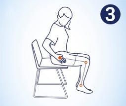 Hacer masaje en la cadera