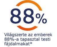 Világszerte az emberek 88%-a tapasztal testi fájdalmat