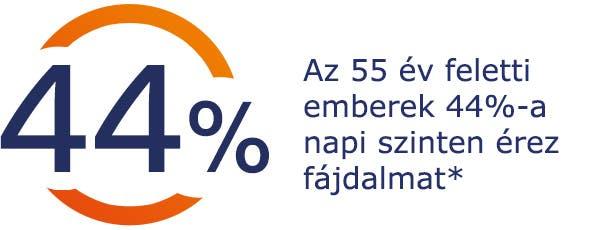 Az 55 év feletti emberek 44%-a napi szinten érez fájdalmat