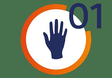 Ikona przedstawiająca dłoń