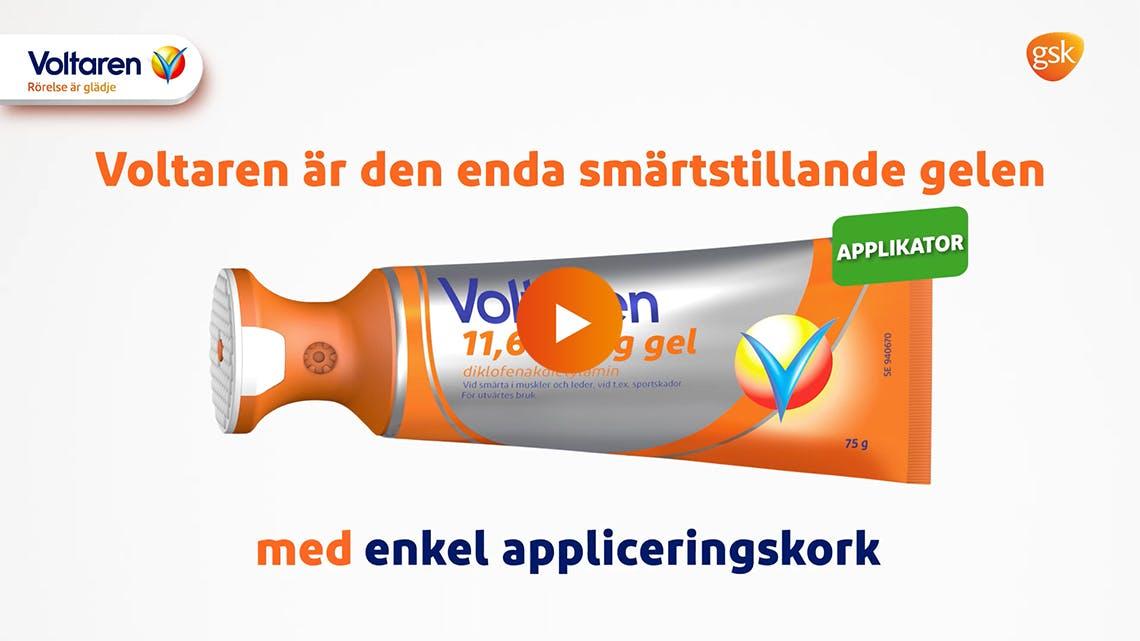 Lindra ryggsmärta med Voltaren gel med applikator