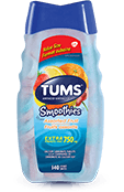 TUMS Smoothies, fruits assortis, flacon de 140 comprimés