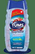 TUMS Smoothies, fusion fruitée, flacon de 140 comprimés