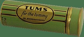 Emballage original vert de TUMS en rouleau
