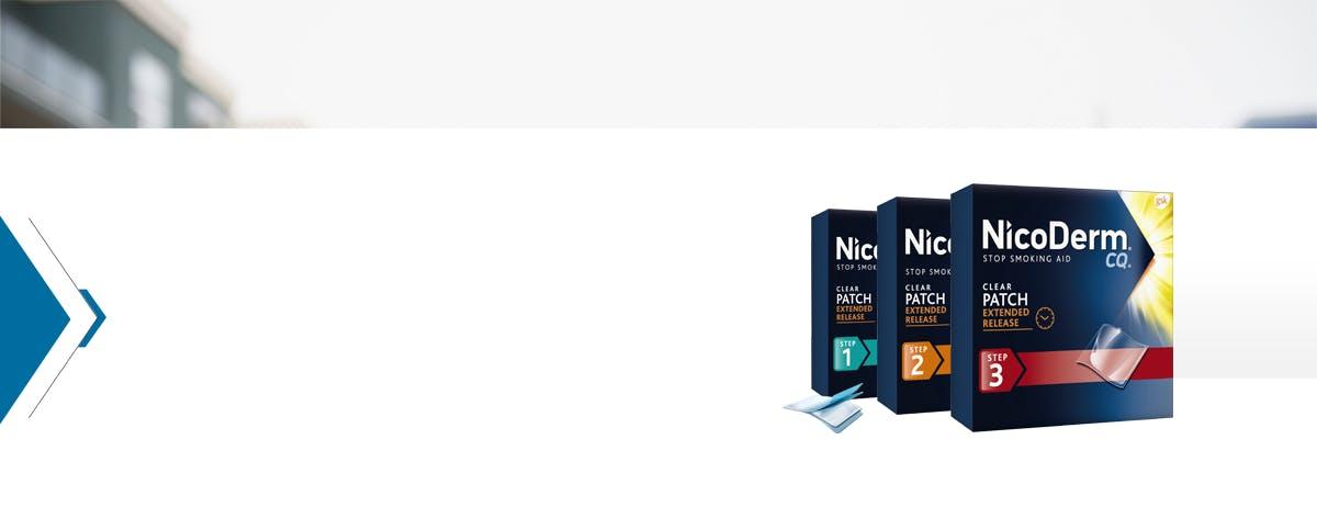 NicoDerm CQ Clear Patch Steps 1-3