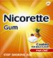 Box of coated Fruit Chill Nicorette gum