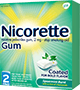 Box of coated Spearmint Burst Nicorette gum
