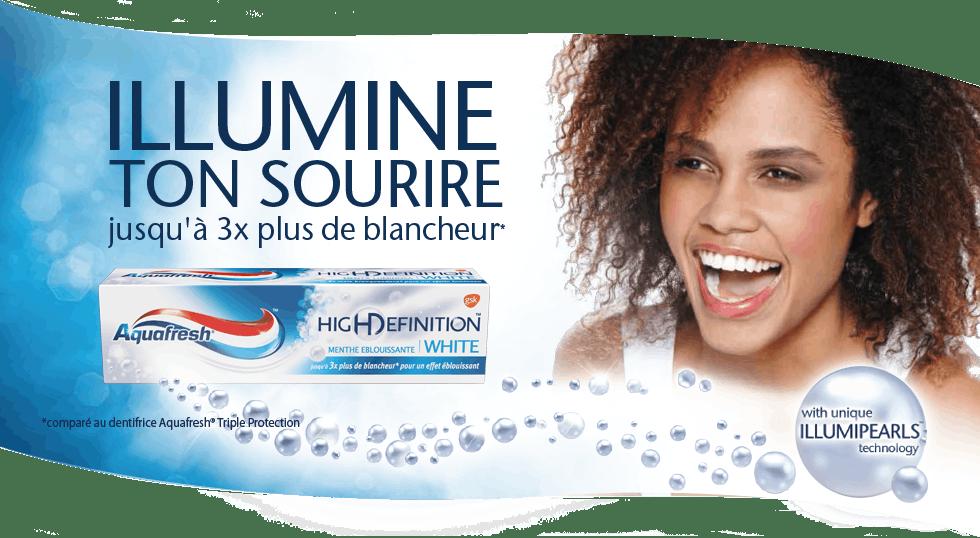 Illuminez votre sourire avec Aquafresh®